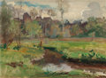 Fine Art - Painting, American:Modern  (1900 1949)  , WALTER PARSONS SHAW GRIFFIN (American, 1861-1935). LandscapeBoigneville, France, 1929. Oil on canvas. 9-1/2 x 13 inches...