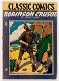 Golden Age (1938-1955):Classics Illustrated, Classic Comics #10 Robinson Crusoe - First Edition (Gilberton, 1943) Condition: VG+....
