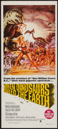 """Movie Posters:Fantasy, When Dinosaurs Ruled the Earth (Warner Brothers, 1970). AustralianDaybill (13"""" X 30""""). Fantasy.. ..."""