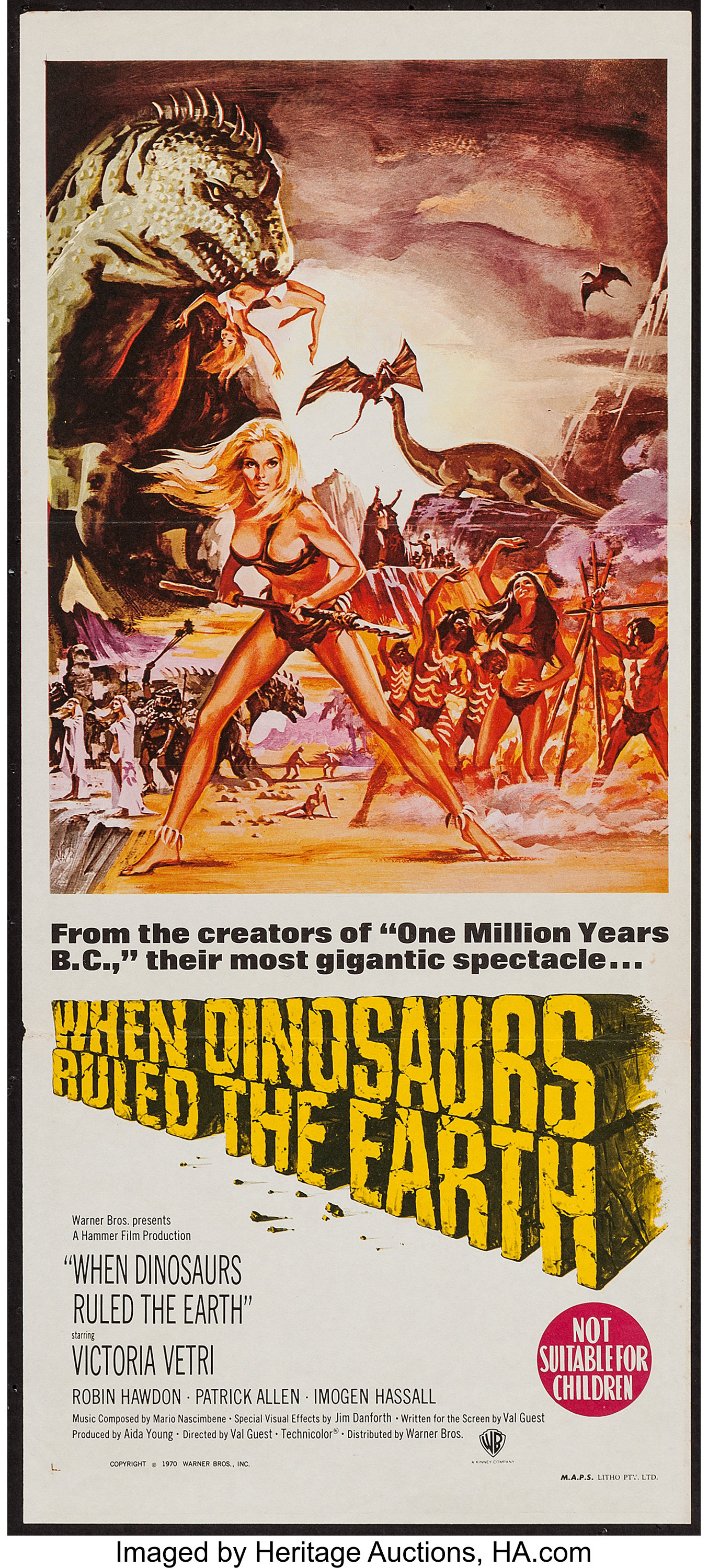 When Dinosaurs Ruled the Earth (Warner Brothers, 1970