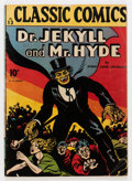 Golden Age (1938-1955):Classics Illustrated, Classic Comics #13 Dr. Jekyll and Mr. Hyde - First Edition(Gilberton, 1943) Condition: VG....