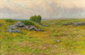 Fine Art - Painting, American:Antique  (Pre 1900), HENRY HAMMOND GALLISON (American, 1850-1910). PastoralLandscape. Oil on canvas. 26 x 39-1/2 inches (66.0 x 100.3 cm).S...