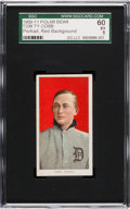 Baseball Cards:Singles (Pre-1930), 1909-11 T206 Polar Bear Ty Cobb, Red Portrait SGC 60 EX 5....