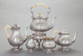 Silver Holloware, British:Holloware, A FIVE PIECE MAPPIN & WEBB VICTORIAN SILVER TEA AND COFFEESERVICE. Mappin & Webb, Ltd., London, England, circa 1891-1892.M... (Total: 6 )