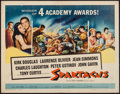 "Movie Posters:Action, Spartacus (Universal International, 1961). Half Sheet (22"" X 28"").Action.. ..."