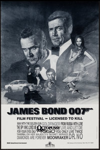 "James Bond Film Festival (MGM/UA, 1983). Poster (18"" X 27""). James Bond"