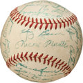Autographs:Baseballs, 1957 New York Yankees Team Signed Baseball....