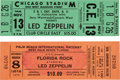 Music Memorabilia:Tickets, Led Zeppelin Canceled Concert Ticket Group (1975-80).... (Total: 2Items)