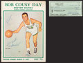 Baseball Collectibles:Publications, Boston Celtics Legends Signed Memorabilia Lot of 2....