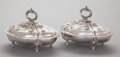 Silver Holloware, American:Vegetable Dish, A PAIR OF WILLIAM FORBES COIN SILVER COVERED SERVERS FOR BALL,TOMPKINS & BLACK. William Forbes, New York, New York, circa1... (Total: 2 Items)