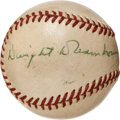Autographs:Baseballs, Circa 1960 President Dwight D. Eisenhower Single Signed MiniBaseball....