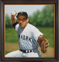 Baseball Collectibles:Others, Circa 2010 Yogi Berra Original Artwork by Arthur Miller. ...