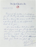 Autographs:Others, Circa 1979 Thurman Munson Handwritten Signed Letter....