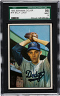 Baseball Cards:Singles (1950-1959), 1953 Bowman Color Billy Loes #14 SGC 96 Mint 9 - Pop One! The Finest SGC Example! ...