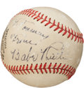 Autographs:Baseballs, 1940's Babe Ruth Single Signed Baseball....
