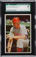 Baseball Cards:Singles (1950-1959), 1953 Bowman Color Richie Ashburn #10 SGC 96 Mint 9 - Pop Two, None Higher! ...