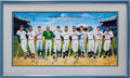 Autographs:Others, 1980's 500 Home Run Club Signed Poster with Home Run Total Notations....