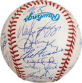 Autographs:Baseballs, 1995 New York Yankees Team Signed Baseball With Derek Jeter Rookie Signature. ...
