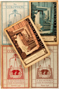 Books:Books about Books, [Colophon Quarterly, Books About Books]. The Colophon. New York: Colophon, 1935-1938. Group of five quarto volumes o... (Total: 5 Items)