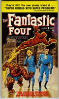 Books:Vintage Paperbacks, Fantastic Four Collector's Album Paperback (Lancer Books, 1966)Condition: VF/NM....