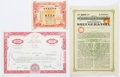"Miscellaneous:Ephemera, Group of Three Certificates including: Aktiebolaget Kreuger &Toll Certificate of Debenture. 8.75"" x 12.25, two pages wi...(Total: 3 Items)"