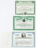 """Miscellaneous:Ephemera, Group of Three Stock Certificates including: The New York CentralRailroad Company. 12.25"""" x 8.25"""", June 2, 1965, for 10... (Total: 3Items)"""