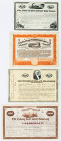 Miscellaneous:Ephemera, [Railroad]. Group of Four Railroad Stock Certificates including:Louisville and Northern Railway and Lighting Company. 1... (Total:4 Items)