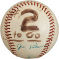 Baseball Collectibles:Balls, 1966 World Series Game Two Used Baseball--Sandy Koufax' Last Game....
