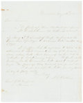 "Autographs:U.S. Presidents, Two Post-Civil War Letters Signed by Politicians including: JamesA. Garfield Autograph Endorsement Signed ""J.A. G... (Total: 2Items)"