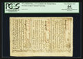 Colonial Notes:North Carolina, North Carolina December, 1771 Uncut Sheet of Three PCGS ApparentVery Choice New 64.. ...