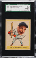 Baseball Cards:Singles (1930-1939), 1938 Goudey Joe DiMaggio #250 SGC 92 NM/MT+ 8.5 - Pop One, One Higher! ...
