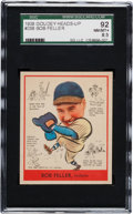 Baseball Cards:Singles (1930-1939), 1938 Goudey Bob Feller #288 SGC 92 NM/MT+ 8.5 - The Finest Example Graded by Both SGC and PSA! ...