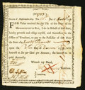 "Colonial Notes:Massachusetts, Massachusetts Fiscal Paper ""Committee War"" Dated February 24, 1777for £40.. ..."