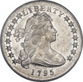 Early Dollars, 1795 $1 Draped Bust, Off Center AU58 PCGS. B-14, BB-51, R.2....