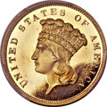 Proof Three Dollar Gold Pieces, 1859 $3 PR65 Deep Cameo PCGS Secure....