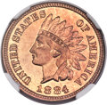 Proof Indian Cents, 1884 1C PR67 Red NGC. CAC....