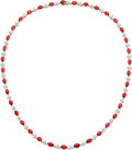 Estate Jewelry:Necklaces, Ruby, Diamond, Platinum, Gold Necklace, Tiffany & Co.. ...