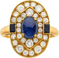 Estate Jewelry:Rings, Sapphire, Diamond, Gold Ring, Cartier. ...