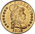 Early Half Eagles, 1803/2 $5 -- Mount Removed, Improperly Cleaned -- NCS. AU Details.BD-4, R.4....