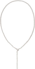 Estate Jewelry:Necklaces, Diamond, White Gold Necklace, Cartier. ...