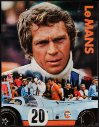 "Le Mans (Cinema Center, 1971). Gulf Promotional Poster (17"" X 22""). Sports"
