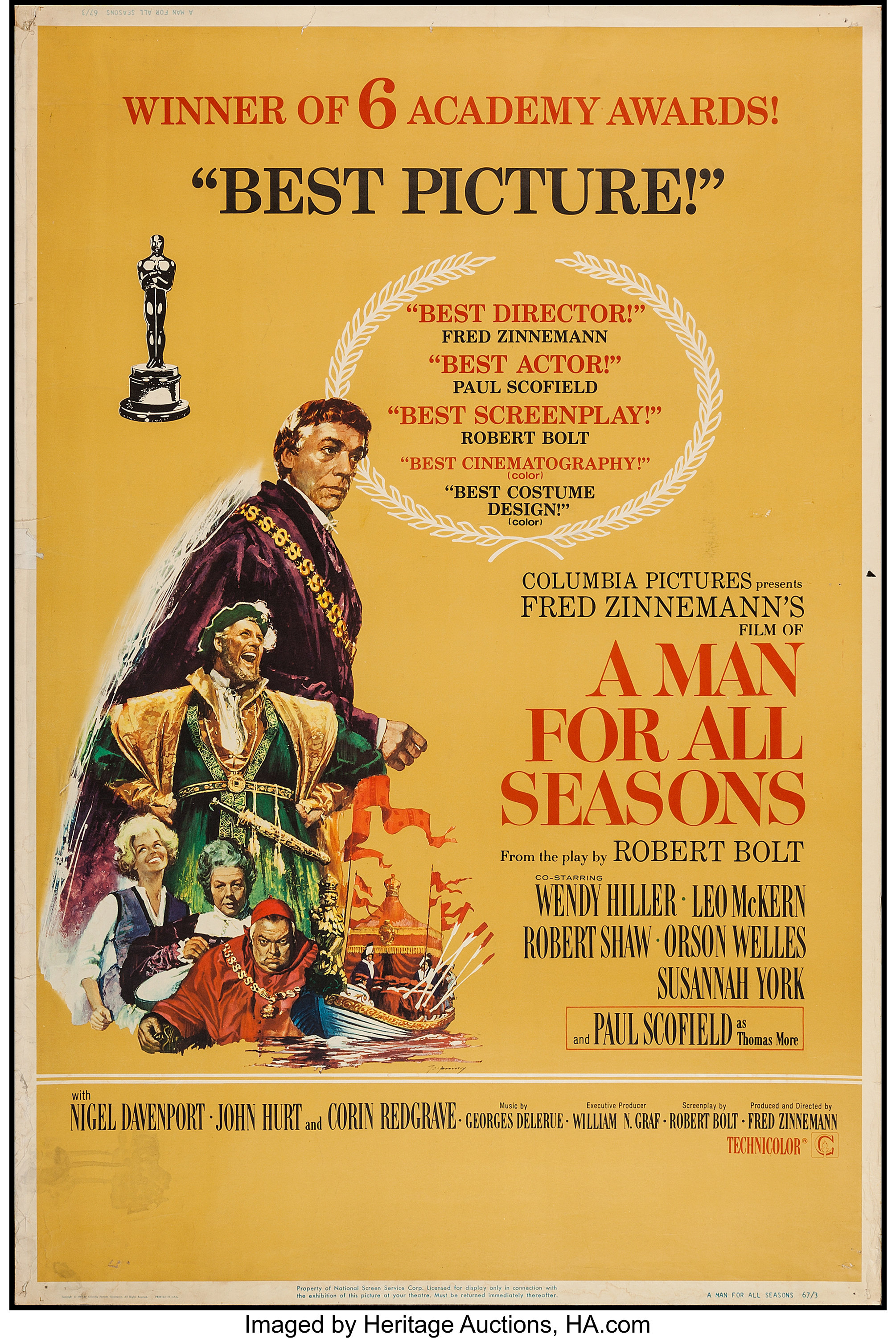 A Man For All Seasons Movie Poster 1966