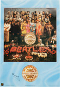 Music Memorabilia:Autographs and Signed Items, Beatles - Paul McCartney Signed Sgt. Peppers Poster....
