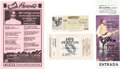 Music Memorabilia:Tickets, Cream/Eric Clapton Concert Ticket Group (1968-90).... (Total: 4Items)