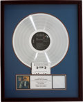 Music Memorabilia:Awards, Elvis Presley Frankie and Johnny RIAA Platinum Record Award(RCA 3563, 1966)....