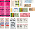 Music Memorabilia:Tickets, The Who Concert Ticket Group (1970s-80s).... (Total: 14 Items)