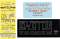 Music Memorabilia:Tickets, Led Zeppelin-Related Oversize Ticket Group (1970-98).... (Total: 3Items)