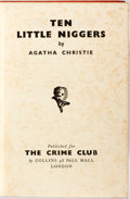 Books:Mystery & Detective Fiction, Agatha Christie. Ten Little Niggers. London: Crime Club,[1939]. First edition. Octavo. 252, [2, ads] pages. Pub...