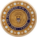 Political:Presidential Relics, Harry S. Truman: Gold Presidential Seal Brooch....