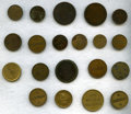 Colombia, Colombia: Mitad 20 Tokens of 19th Century,. ... (Total: 20 tokens)